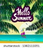 vector banner summer vacation... | Shutterstock .eps vector #1382111051