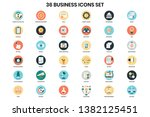 business icons set for business ... | Shutterstock .eps vector #1382125451