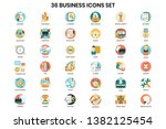 business icons set for business ... | Shutterstock .eps vector #1382125454