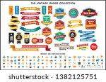 vintage retro vector logo for... | Shutterstock .eps vector #1382125751