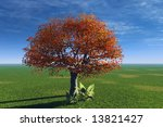 a lonely tree | Shutterstock . vector #13821427