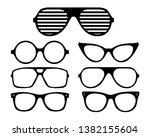 vector eyeglasses black frame... | Shutterstock .eps vector #1382155604
