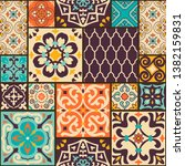 seamless colorful patchwork... | Shutterstock .eps vector #1382159831