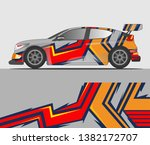graphic abstract stripe racing... | Shutterstock .eps vector #1382172707