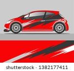 car decal wrap design vector | Shutterstock .eps vector #1382177411