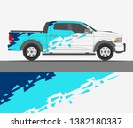 pick up truck and car decal...   Shutterstock .eps vector #1382180387
