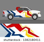 pick up truck and car decal... | Shutterstock .eps vector #1382180411