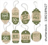 paper price tag retro vintage... | Shutterstock .eps vector #1382189627