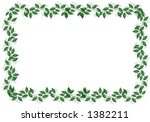 frame of leaves on white... | Shutterstock . vector #1382211