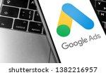 closeup keyboard laptop and... | Shutterstock . vector #1382216957