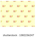 arabic numbers on a yellow... | Shutterstock .eps vector #1382236247