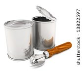 opened and closed cans with...   Shutterstock . vector #13822597
