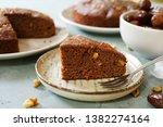 homemade date walnut bread  ... | Shutterstock . vector #1382274164
