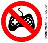 no gaming vector sign