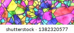 Stained Glass Wall. Art Mosaic  ...