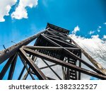 Wooden Lookout Tower In The...