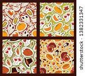 thanksgiving food seamless... | Shutterstock .eps vector #1382331347