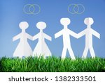 same sex marriage  gay marriage ...   Shutterstock . vector #1382333501