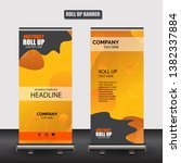roll up business brochure flyer ... | Shutterstock .eps vector #1382337884