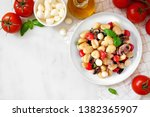 gnocchi with tomatoes ... | Shutterstock . vector #1382365907