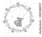 Vector Dandelion Doodle Wreath...