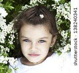 portrait of beautiful little... | Shutterstock . vector #138240341