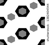 hexagons ornament. hexahedrons... | Shutterstock .eps vector #1382404544