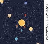 solar system vector universe... | Shutterstock .eps vector #1382410541