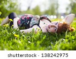 beautiful pregnant woman outdoor | Shutterstock . vector #138242975