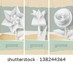 paper flowers with handwriting... | Shutterstock .eps vector #138244364