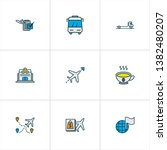 travel icons colored line set...   Shutterstock .eps vector #1382480207