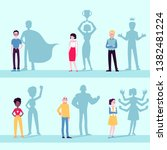 motivated people icon set with... | Shutterstock .eps vector #1382481224