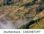 samaba rice terrace fields in... | Shutterstock . vector #1382487197
