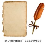 antique paper sheet and vintage ... | Shutterstock . vector #138249539