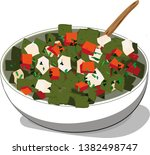 nopales prepared with tomato... | Shutterstock .eps vector #1382498747