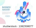 isometric business woman...   Shutterstock .eps vector #1382508077