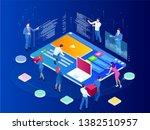 isometric seo analytics team... | Shutterstock .eps vector #1382510957