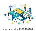 isometric seo analytics team... | Shutterstock .eps vector #1382510981