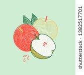 hand drawn summer card template ... | Shutterstock . vector #1382517701