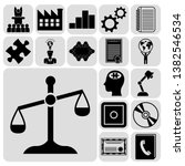 set of 17 business icons or... | Shutterstock .eps vector #1382546534