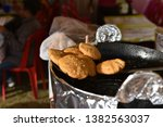 yummy indian street foods for... | Shutterstock . vector #1382563037