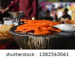 yummy indian street foods for... | Shutterstock . vector #1382563061