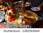 yummy indian street foods for... | Shutterstock . vector #1382563064