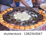 yummy indian street foods for... | Shutterstock . vector #1382563067