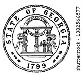 the seal of the state of... | Shutterstock .eps vector #1382566577