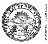 the great seal of the state of... | Shutterstock .eps vector #1382566631