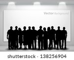 people silhouettes looking on... | Shutterstock .eps vector #138256904