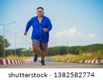 Fat man  he is jogging to lose...