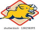 boar,diamond,head,hog,illustration,isolated,jumping,pig,razorback,tusk,wild pig,wildlife