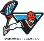 artwork,crosse,game,graphics,illustration,isolated,lacrosse,male,man,player,retro,sport,stick